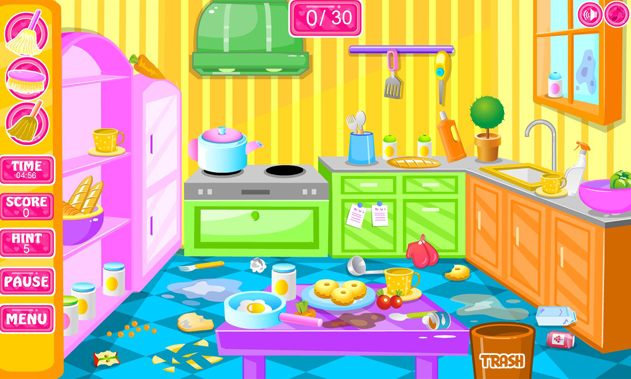 Clean up bathroom games - House Clean Up Rooms Screenshot