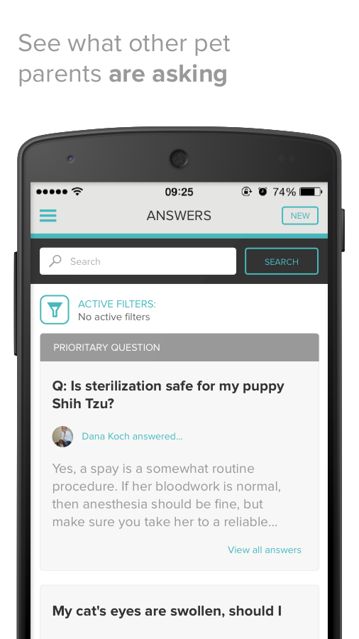 PetCoach - Ask a vet for free- screenshot