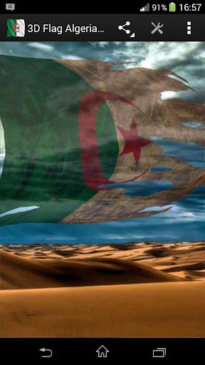 3D Flag Algeria LWP