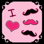 I Love Mustache GO by BBFreaks