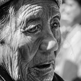Tibetan grandmother by Svetlin Ivanov - People Portraits of Women ( tibetan, india, picsvet, grandmother )