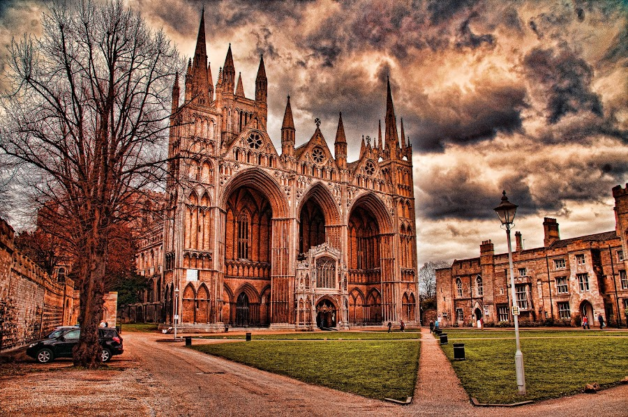 Peterborough Cathedral by Graham White - Buildings & Architecture Places of Worship ( prayer, building, church, holy place, cathedral, worship, peterborough cathedral )