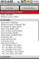Screenshot of RF Signal Tracker (Donut)