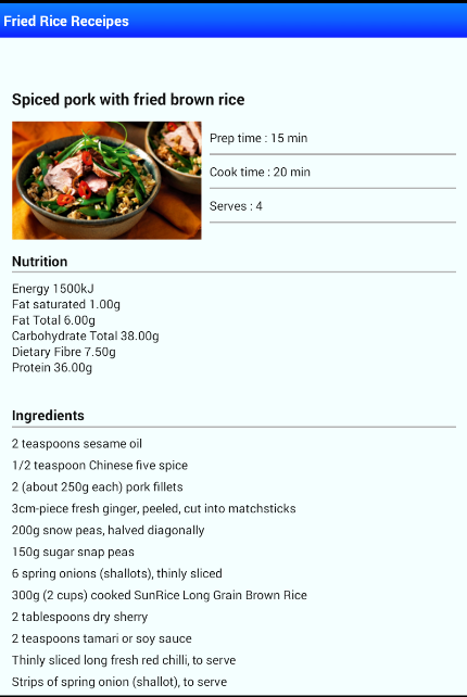 Fried rice easy recipes android apps on google play fried rice easy recipes screenshot ccuart Choice Image