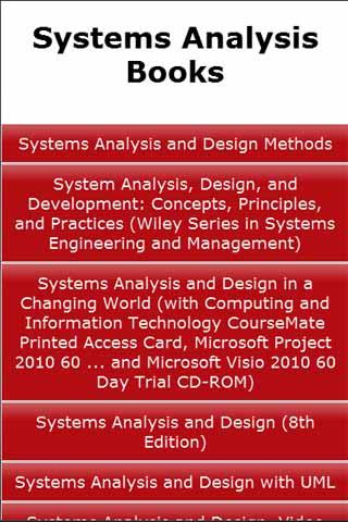 Systems Analysis Books
