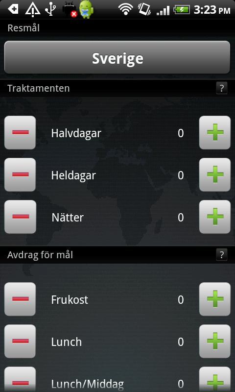 Reseräkning- screenshot