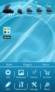 Blue Chill Go Launcher Ex- screenshot thumbnail