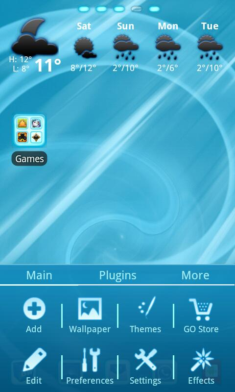 Blue Chill Go Launcher Ex - screenshot