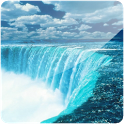 Waterfall in 3D icon