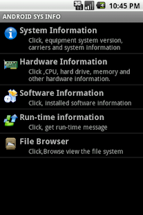 Android CPUZ screenshot
