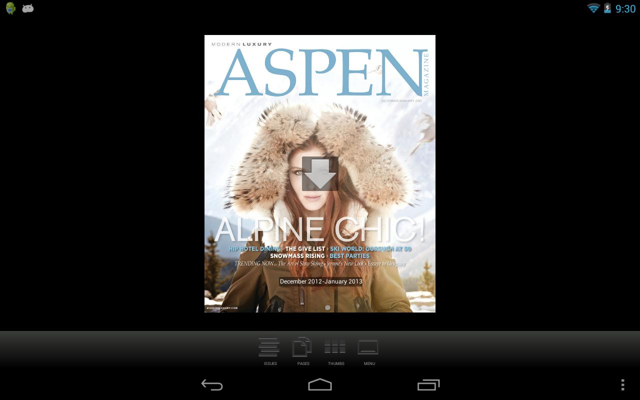 ASPEN Magazine- screenshot