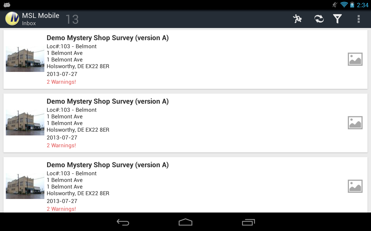 Mystery Shoppers Mobile- screenshot
