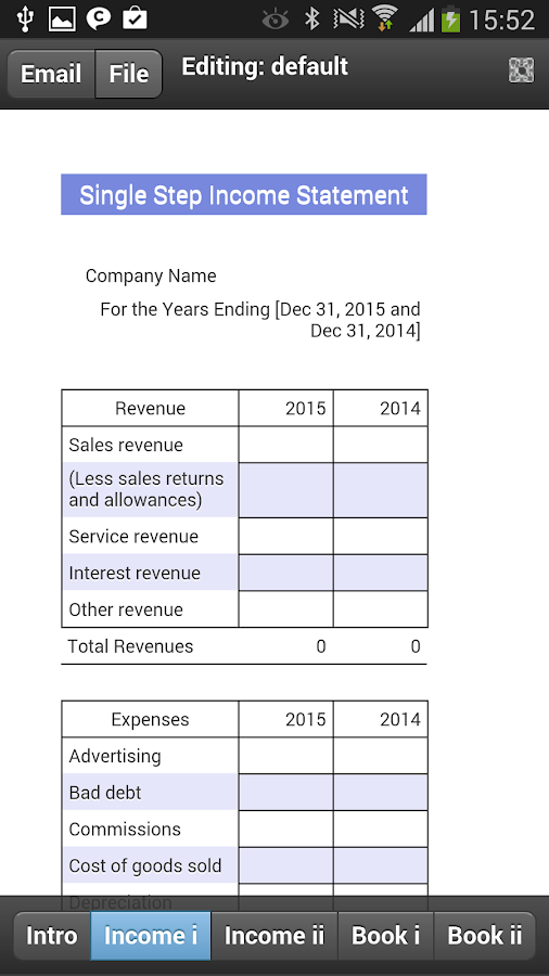 Income Statement Mobile - Android Apps on Google Play