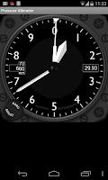 Screenshot of Pressure Altimeter