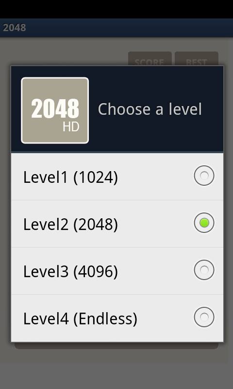 2048 HD - The Best Puzzle Game- screenshot