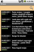 Screenshot of Mibori Recipe Organizer FREE