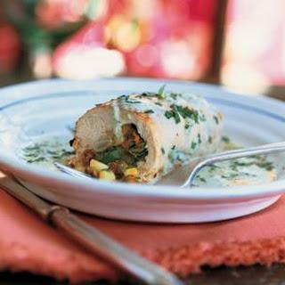Chicken and Squash Blossom Rolls (Pechugas Rellenas con Flor de Calabaza)