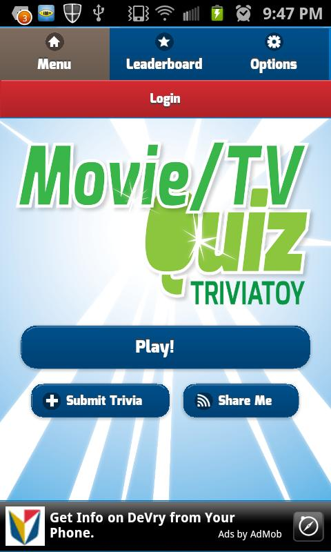 Movie & TV Quiz Trivia Toy - screenshot