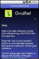 Screenshot of GridRef