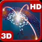 Futuristic Network Globe 3D icon