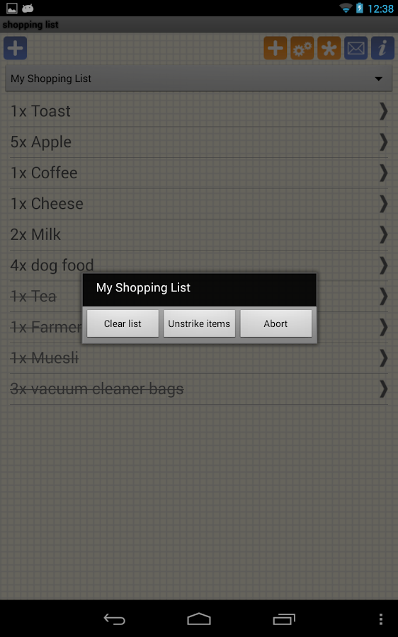 Shopping Grocery List - Free - screenshot