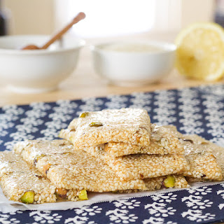 Pasteli | Ancient Greek Honey Sesame bar.