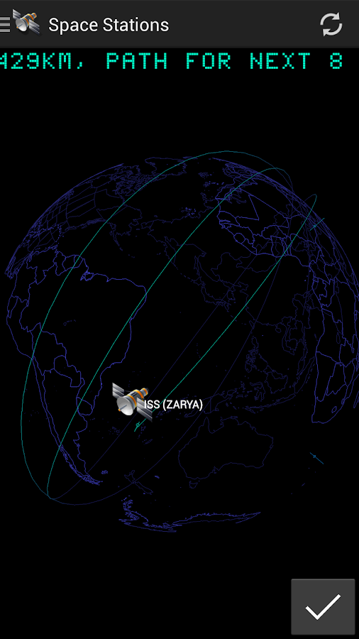 3D Satellite Tracker - screenshot