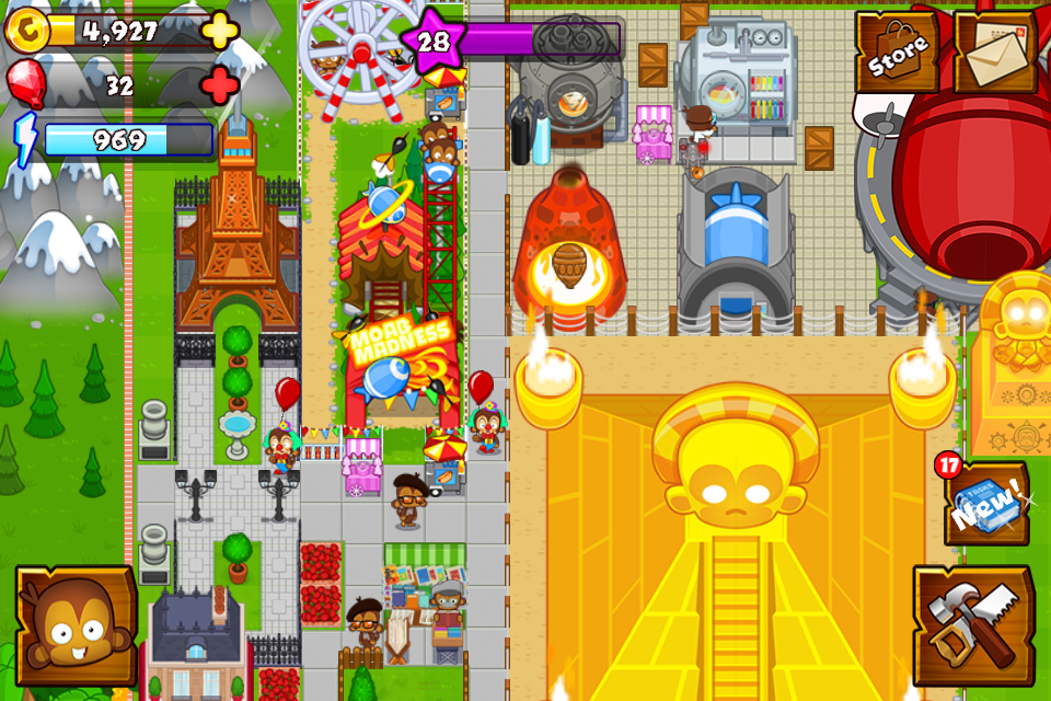 #3. Bloons Monkey City (Android)