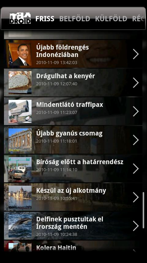 MAXDroid - screenshot