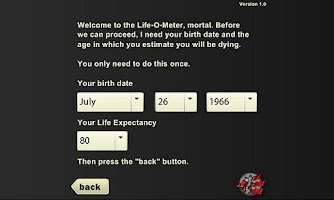 Screenshot of Life-O-Meter