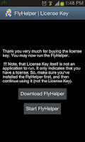 Screenshot of FlyHelper | License Key