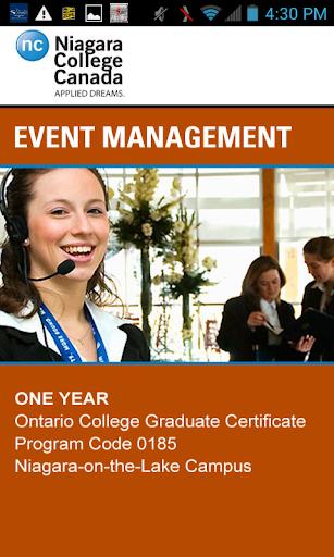 Niagara College Event Mgmt