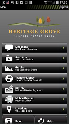Heritage Grove FCU Mobile