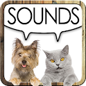 Sounds of dogs and cats icon