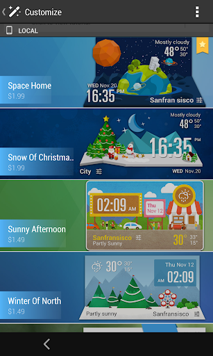 G3 Style Weekly Weather Widget  screenshots 5