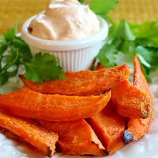 Baked Yam Fries with Dip