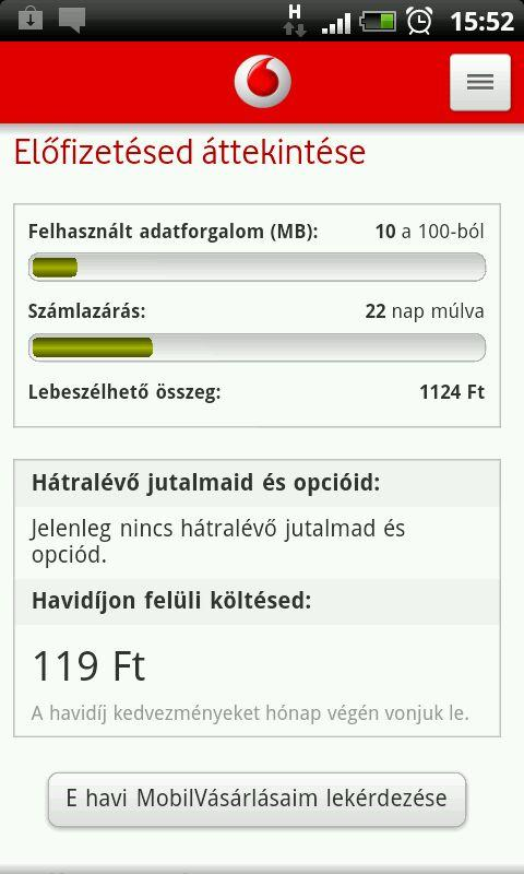 Mobil Vodafone - screenshot