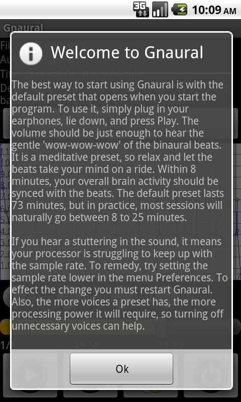 Gnaural for Android- screenshot
