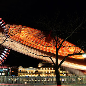 Cosmo World by Lenny Sharp - City,  Street & Park  Amusement Parks ( lights, cosmo world, japan, spin, yokohama, ferris wheel )