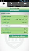 Screenshot of Georgetown Bank Mobile App