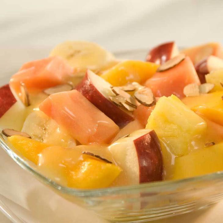 Summer Fruit with Honey-Velvet Sauce Recipe