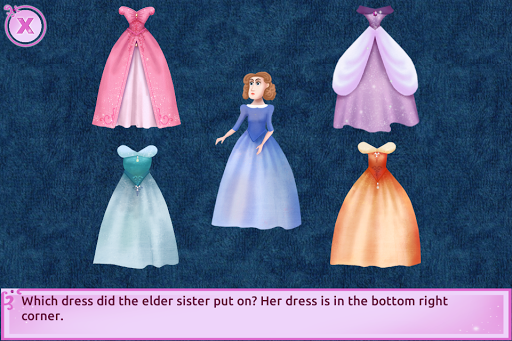 Cinderella Story Fun Educational Girls Games 1.4.0 Screenshots 5