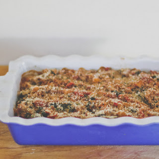 "Baked Bulgur, Spinach and Tomato ""Hot Dish"" Recipe"