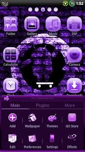 CYANOGEN PURPLE GO Theme- screenshot thumbnail