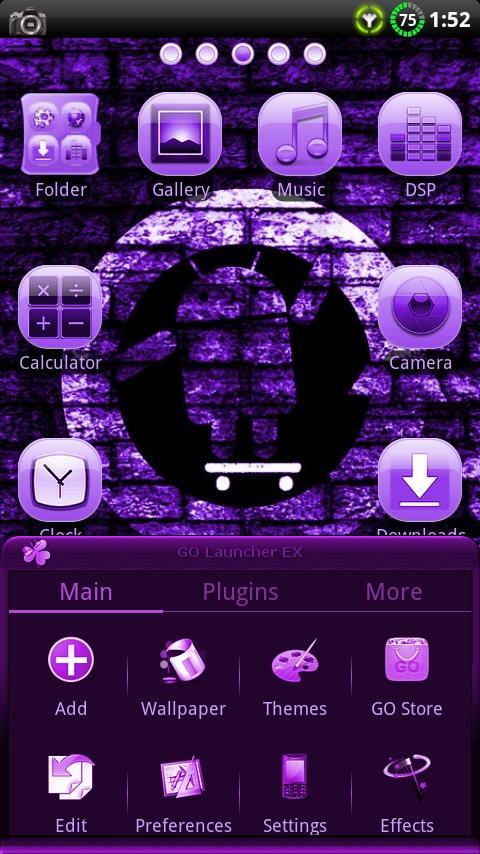 CYANOGEN PURPLE GO Theme- screenshot