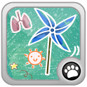 Blow windmill icon