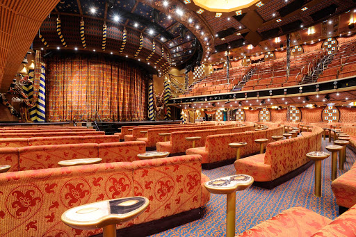 Carnival-Liberty-Venetian-Palace - On your next Caribbean cruise, take in one of the Broadway-style shows at Carnival Liberty's beautiful 3-deck-high Venetian Palace.