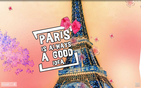 cute paris live wallpaper android apps on google play. Black Bedroom Furniture Sets. Home Design Ideas