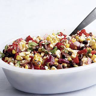 Spicy Grilled Corn Salad with Black Beans and Queso Fresco.
