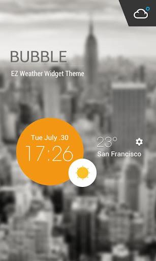 Weather Clock Cool Widget  screenshots 1